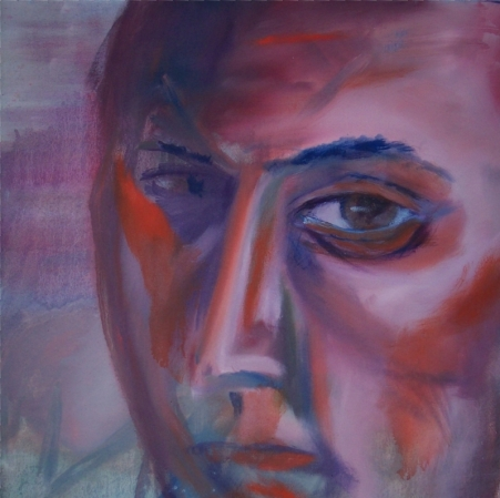 Self Portrait in Red and Blue © 2006 Jeff Thomann, Media: Oil Painting